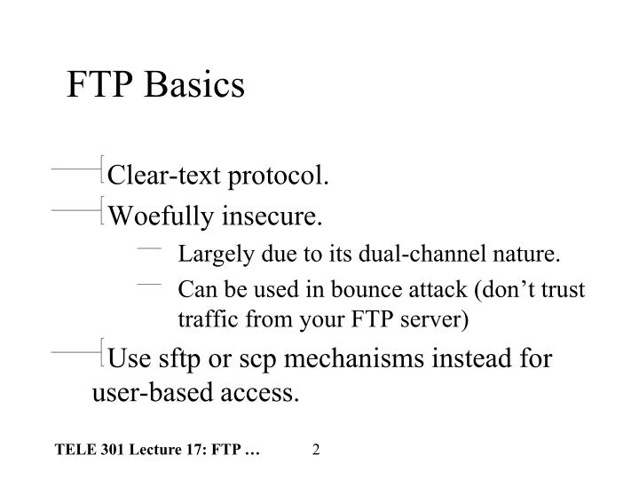 FTP Basics