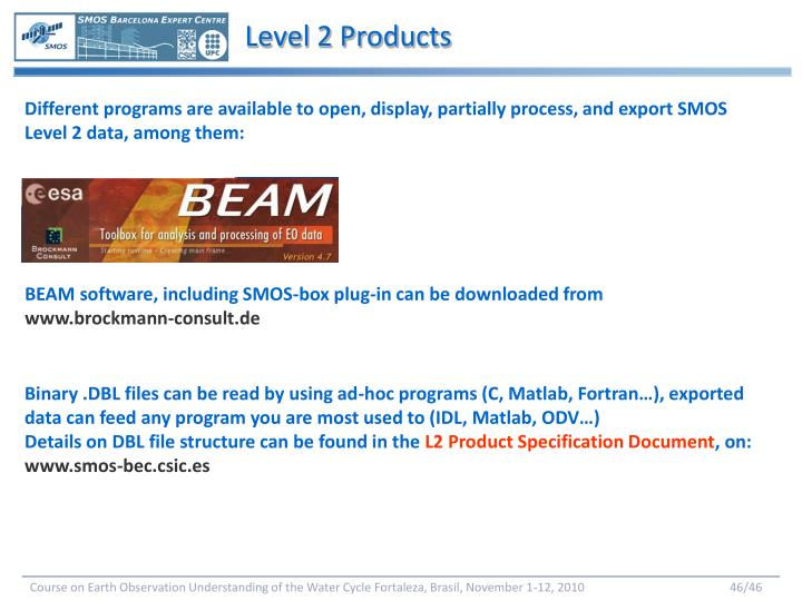 Level 2 Products
