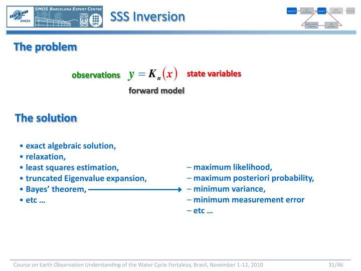 SSS Inversion