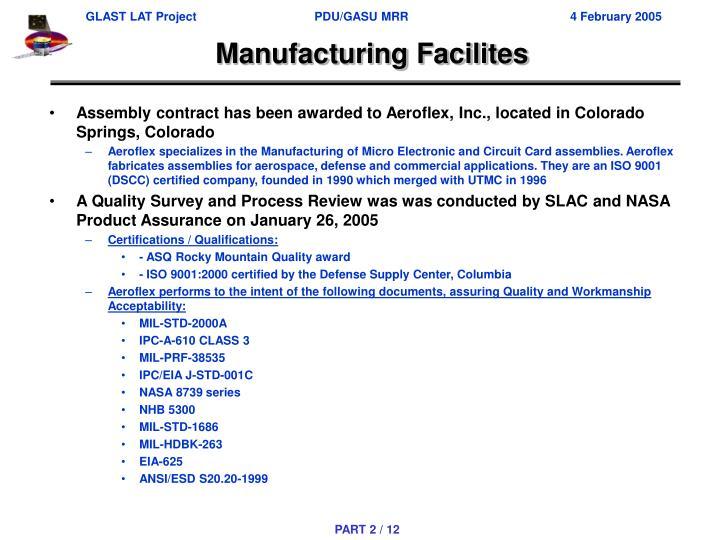 Manufacturing Facilites