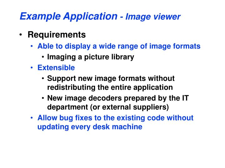 Example application image viewer