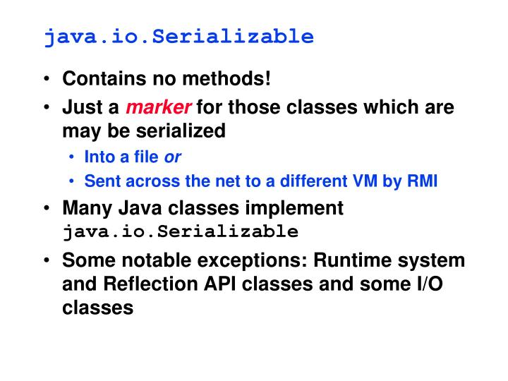 java.io.Serializable