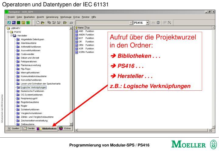 Operatoren und Datentypen der IEC 61131