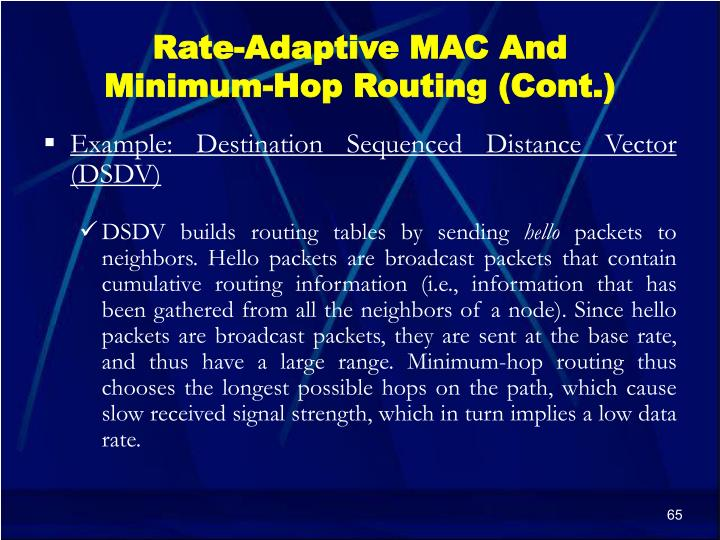 Rate-Adaptive MAC And