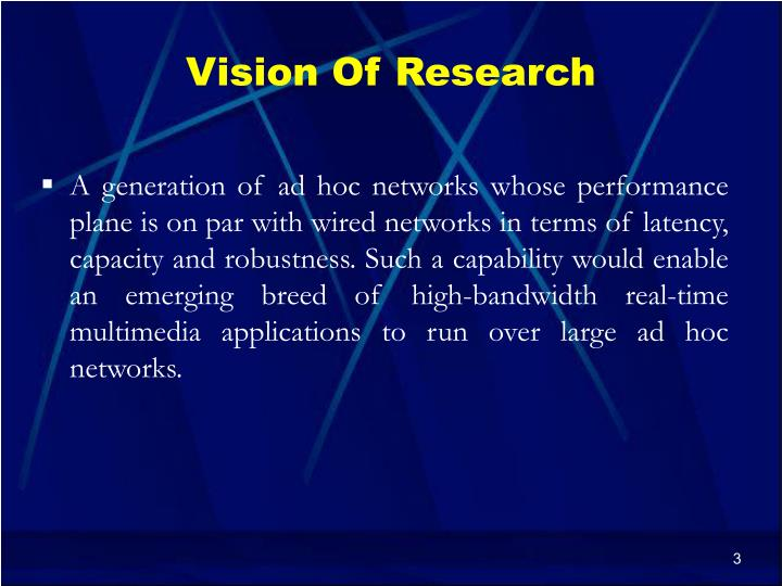 Vision Of Research