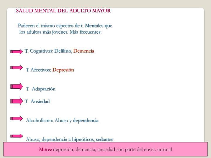 SALUD MENTAL DEL ADULTO MAYOR