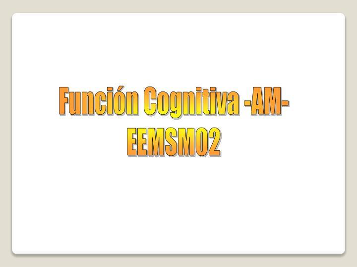 Función Cognitiva -AM-