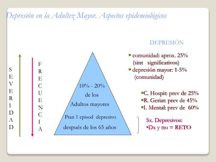 Depresión en la Adultez Mayor. Aspectos epidemiológicos