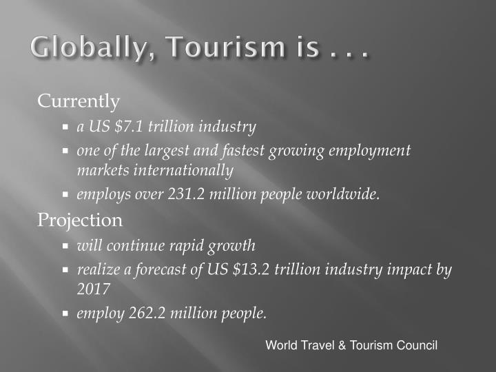 Globally tourism is