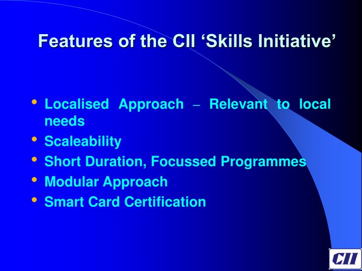 Features of the CII 'Skills Initiative'