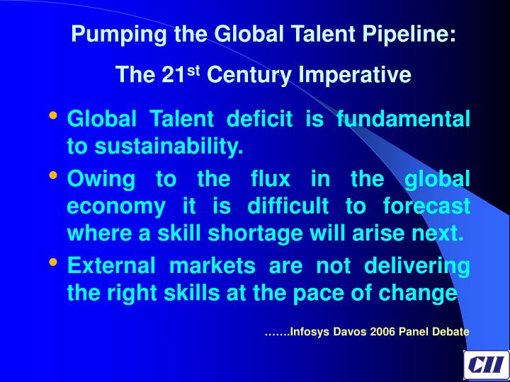Pumping the Global Talent Pipeline: