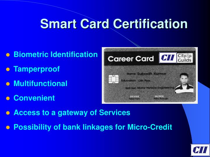 Smart Card Certification