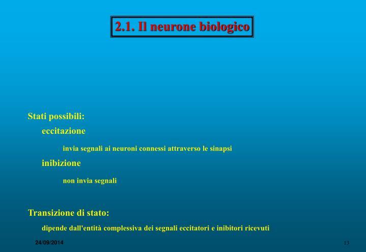 2.1. Il neurone biologico