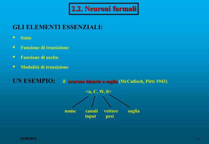 2.2. Neuroni formali