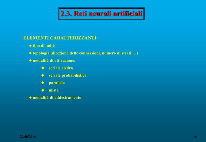 2.3. Reti neurali artificiali