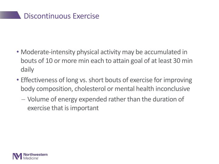 Discontinuous Exercise