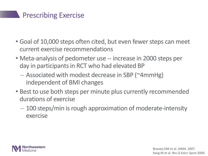 Prescribing Exercise