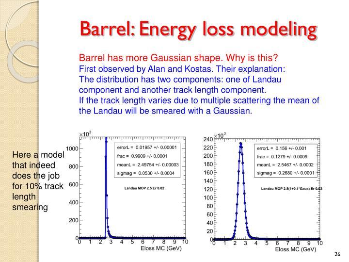 Barrel: Energy loss modeling