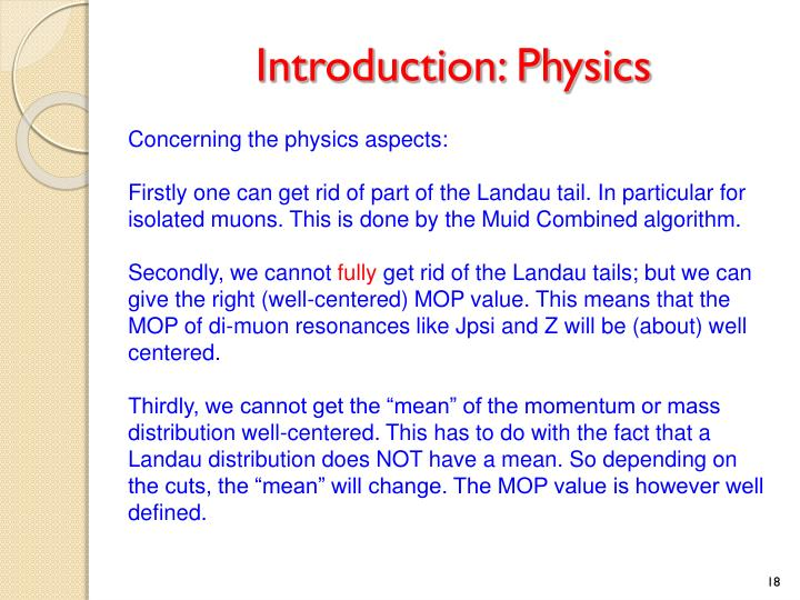 Introduction: Physics