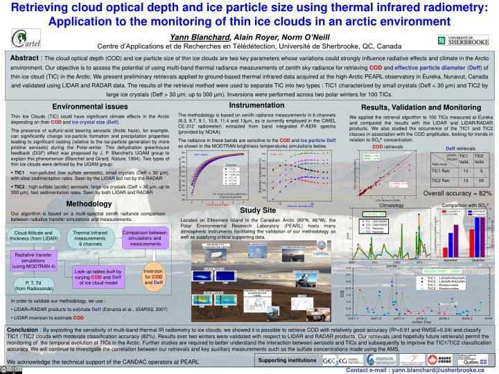 Retrieving cloud optical depth and ice particle size using thermal infrared radiometry: Application ...