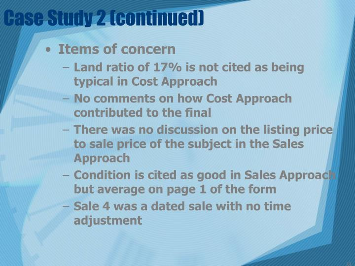 Case Study 2 (continued)