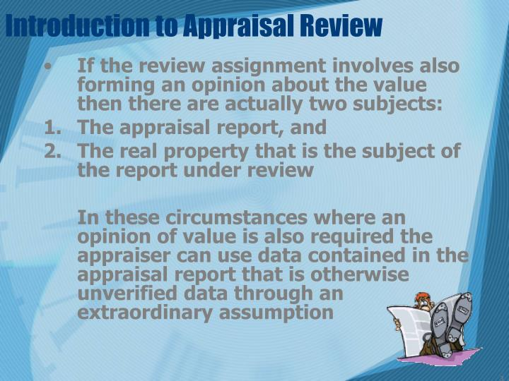 Introduction to appraisal review1