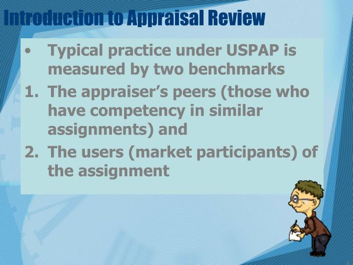 Introduction to Appraisal Review