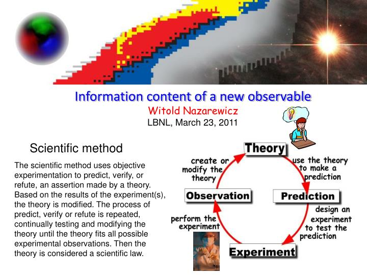 Information content of a new observable