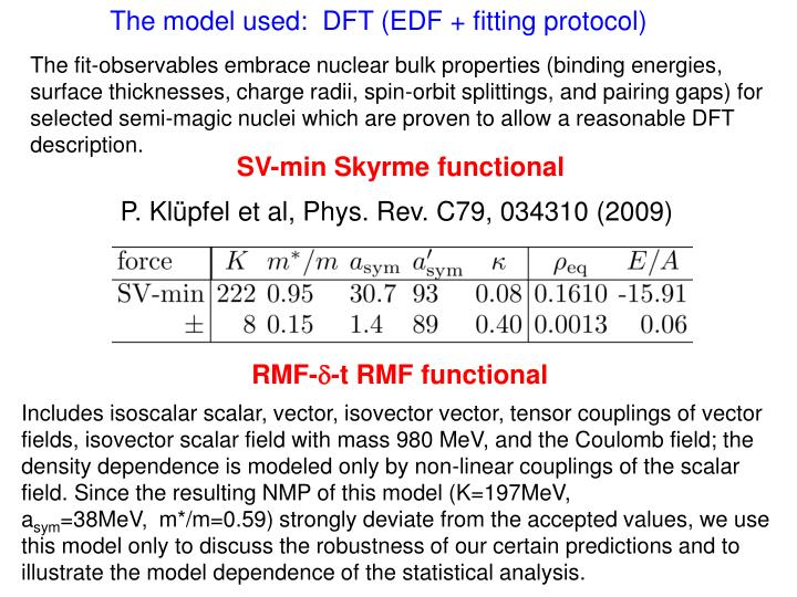 The model used:  DFT (EDF + fitting protocol)