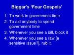 biggar s four gospels