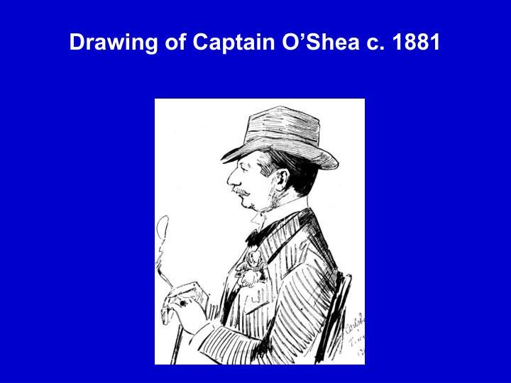 Drawing of Captain O'Shea c. 1881