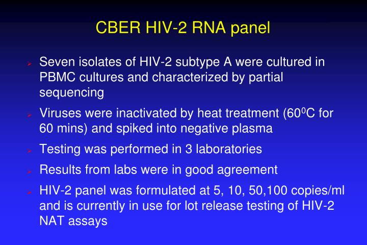CBER HIV-2 RNA panel