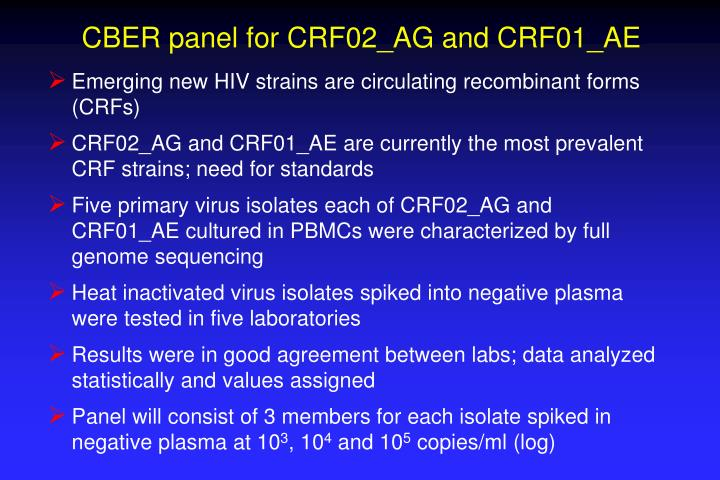 CBER panel for CRF02_AG and CRF01_AE