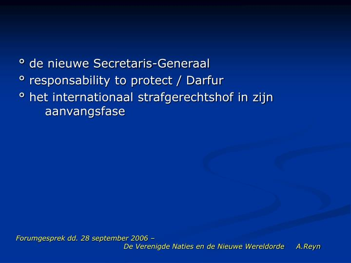 Forumgesprek dd. 28 september 2006 –