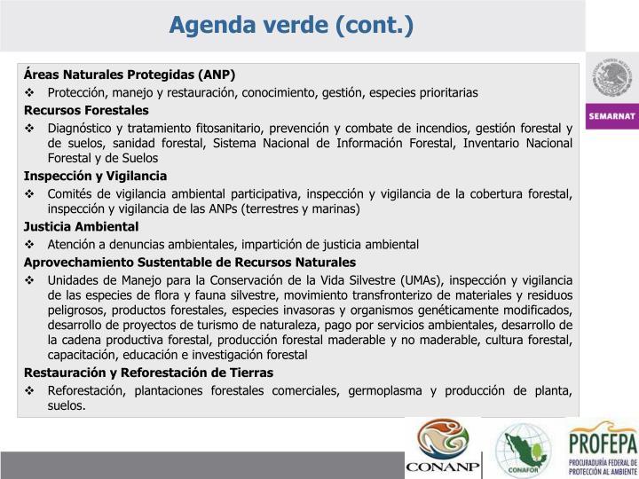 Agenda verde (cont.)