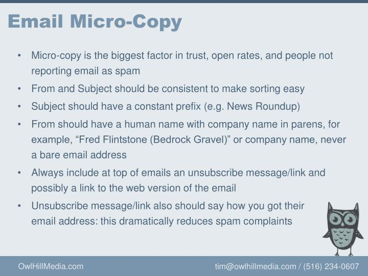 Email Micro-Copy
