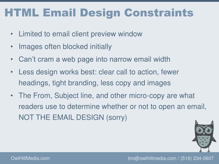 HTML Email Design Constraints