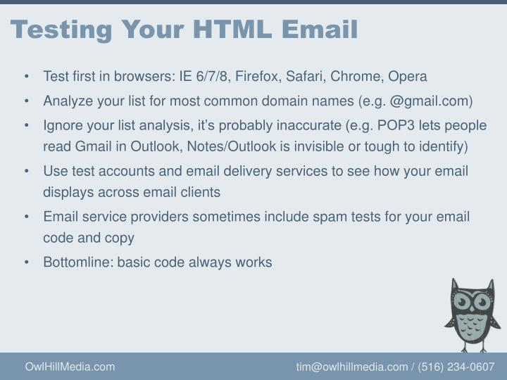Testing Your HTML Email