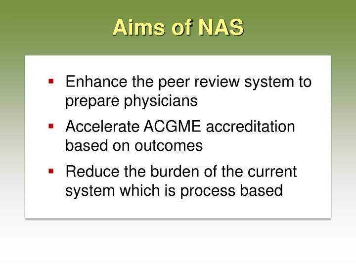 Aims of nas