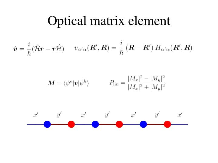 Optical matrix element