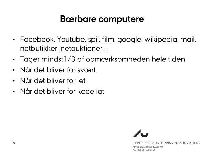 Bærbare computere