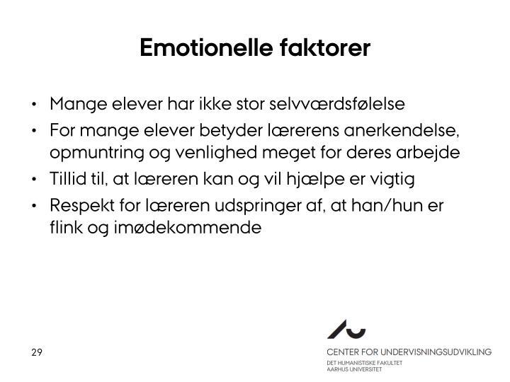 Emotionelle faktorer