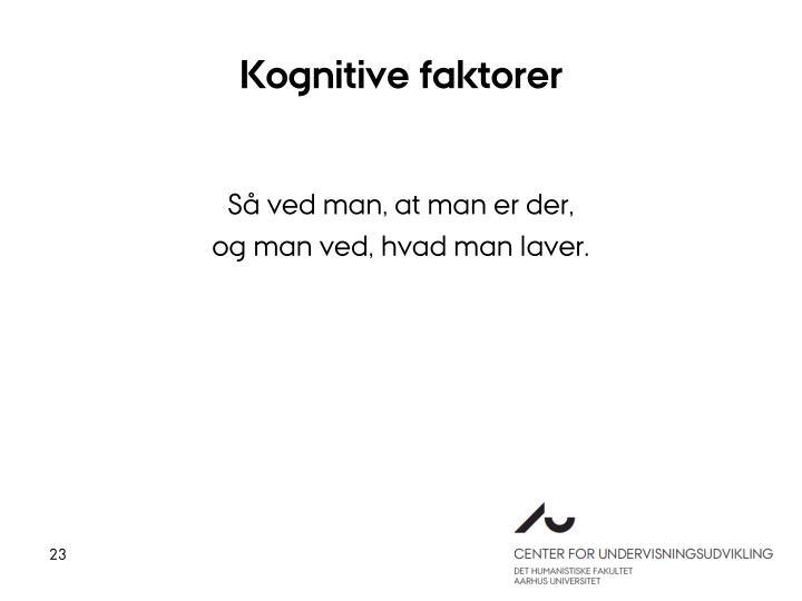 Kognitive faktorer