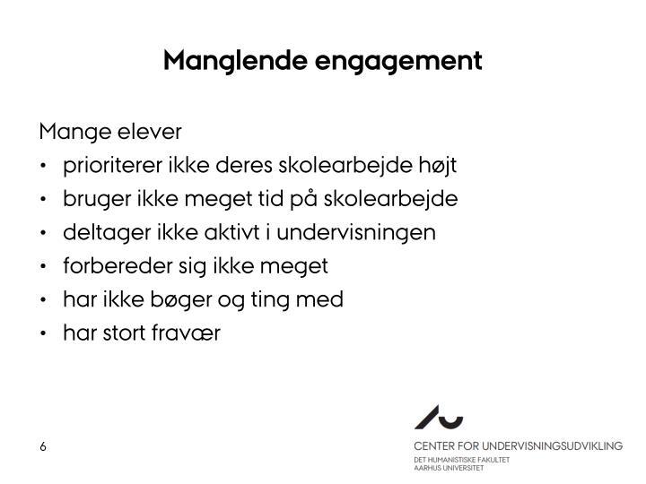 Manglende engagement