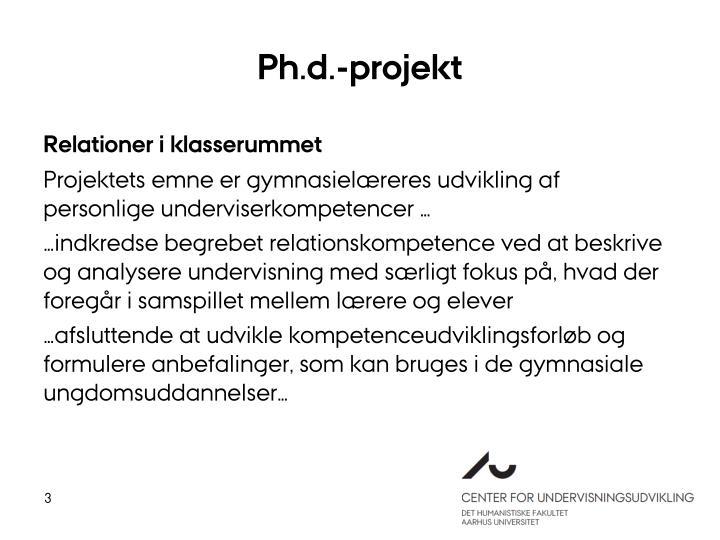 Ph.d.-projekt