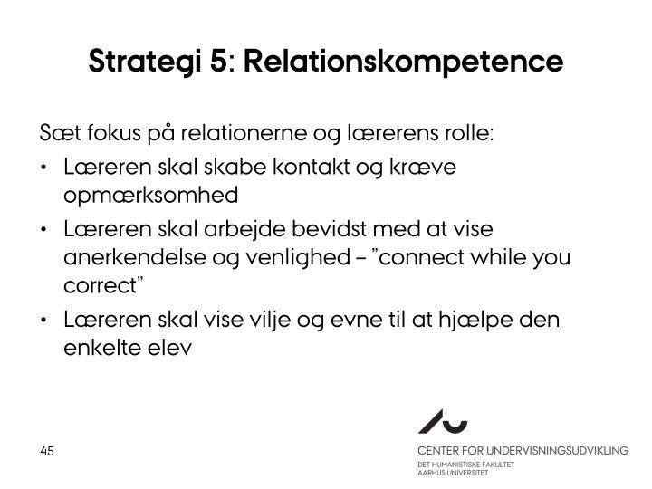 Strategi 5: Relationskompetence