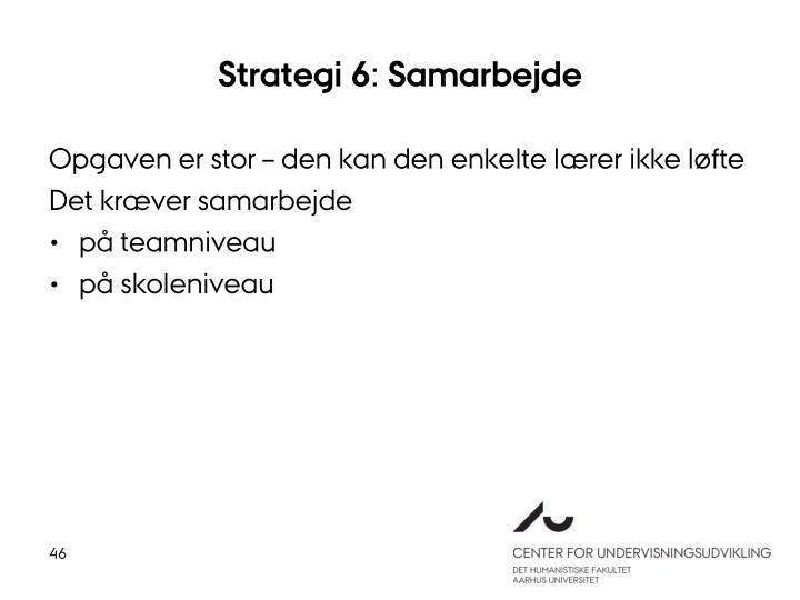 Strategi 6: Samarbejde