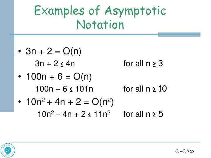 Examples of Asymptotic Notation