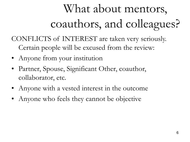 What about mentors,