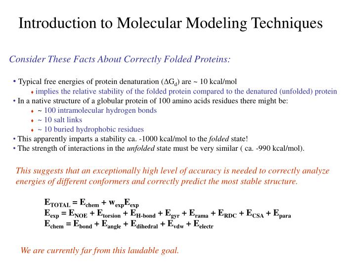 Introduction to Molecular Modeling Techniques